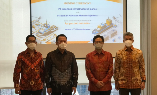 The signing of IDR 500 billion loan