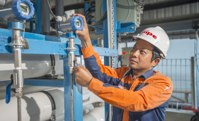 Clean Water Treatment System of JIIPE Industrial Estate In Gresik